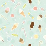 Sweet pattern. Vector EPS 10 seamless pattern Royalty Free Stock Photography