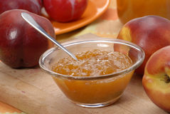 Sweet peach jam. Royalty Free Stock Photos