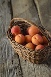 Sweet Peaches in Basket Stock Photography
