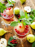 Sweet pear compote Royalty Free Stock Images