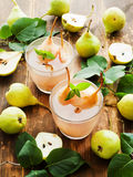 Sweet pear compote Stock Photos