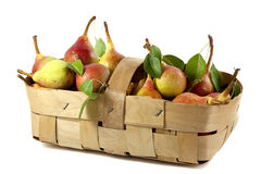 Sweet pears in a basket Stock Image