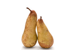 Sweet pears on white stock photo