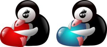 Sweet penguins Stock Image