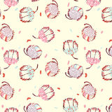 Sweet Peony. Sweet Flower with Blossom Peony Pattern Royalty Free Stock Photo