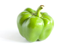 Sweet pepper. Green sweet pepper on white background Royalty Free Stock Photography