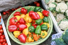 Sweet pepper and another vegatarian royalty free stock photo