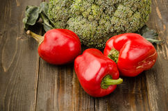 Sweet pepper and broccoli Stock Photography