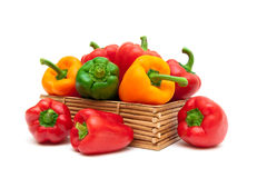 Sweet pepper of different colors  on white background Stock Photo