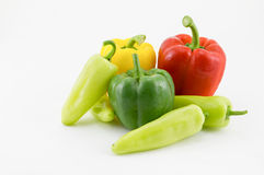 Sweet pepper. Fresh sweet pepper isolated on white background Royalty Free Stock Images