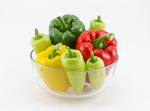 Sweet pepper. Fresh sweet pepper isolated on white background Stock Images