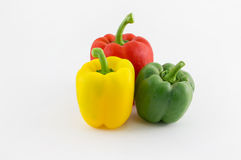Sweet pepper. Fresh sweet pepper isolated on white background Royalty Free Stock Photos
