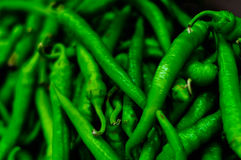 Sweet Pepper On Greengrocer Stock Photo