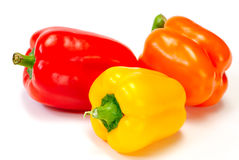 Sweet pepper isolated on white Stock Photo