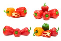 Sweet pepper isolated on white background royalty free stock photos
