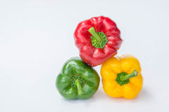 Sweet pepper isolated  in white background , raw vagetable Royalty Free Stock Photos