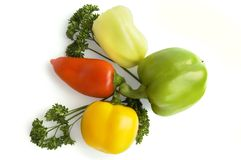 Sweet pepper and parsley Royalty Free Stock Image