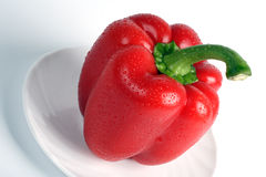 Sweet pepper on a plate. Special foreshortening Stock Photography