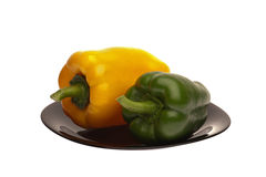Sweet pepper on a plate Stock Photography
