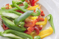 Sweet pepper salad Stock Image