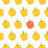 Sweet pepper seamless pattern. Vector illustration Royalty Free Stock Photography
