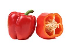 Sweet pepper and slice. Royalty Free Stock Photos
