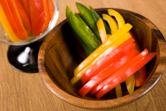 Sweet pepper slices Stock Image