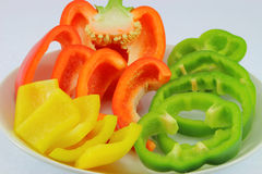 Sweet pepper slices Stock Photos