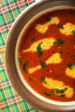 Sweet pepper soup Royalty Free Stock Image