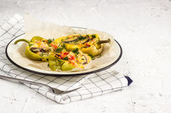 Sweet pepper stuffed with vegetable Stock Photo