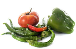 Sweet pepper and  tomato Stock Images