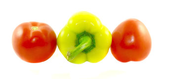 Sweet pepper and tomatoes Royalty Free Stock Photo