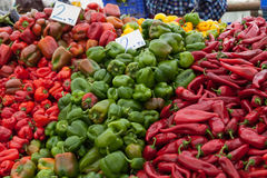 Sweet pepper in the Turkish market Stock Photo