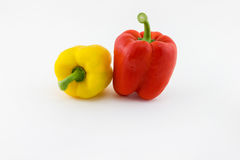 Sweet pepper. Two fresh sweet pepper isolated on white background Royalty Free Stock Images