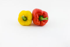 Sweet pepper. Two fresh sweet pepper isolated on white background Stock Photography