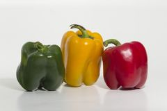 Bell pepper, sweet pepper. The sweet pepper is used in Peruvian cuisine as a vegetable added. Provides color to foods without spiciness stock photos