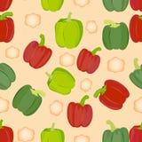 Sweet pepper vector background Stock Image