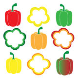 Sweet pepper vector set Stock Image