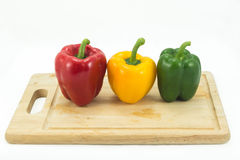 Sweet pepper on white background Royalty Free Stock Images