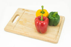 Sweet pepper on white background Royalty Free Stock Photos