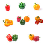 Sweet pepper with white background Stock Photography