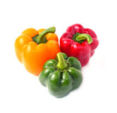 Sweet pepper with white background Royalty Free Stock Photo