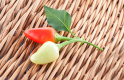 Sweet peppers on background Royalty Free Stock Images