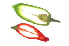 Sweet peppers (Capsicum annuum) Royalty Free Stock Photography