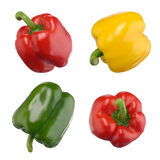 Sweet peppers isolated on white Royalty Free Stock Image