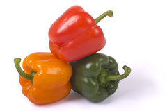 Sweet Peppers. Isolated on white background Royalty Free Stock Photos