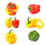 Sweet peppers isolated on white background. Stock Image