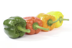 Sweet peppers isolated on white background Stock Photography
