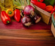 Sweet Peppers And Onions Stock Image