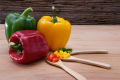 Sweet peppers Stock Images